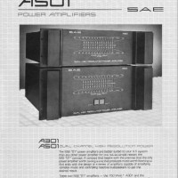 SAE A501 & A301 power amp page 1/2