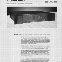 SAE A201 power amp page 1/2