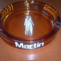 Rare MARTIN SPEAKERS USA AD ASHTRAY in French